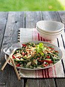 Green bean salad with crabmeat