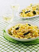 Tagliatelle with green asparagus and pecorino