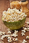 Bowl of Homemade Gluten Free Salted Popcorn