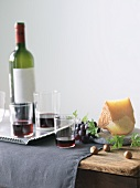 Red Wine and Hard Cheese Pairing with Grapes