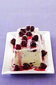 White chocolate and cherry parfait
