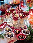 Lime curd with raspberries for Christmas