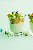 Wasabi mousse with tuna and avocado