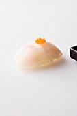 Nigiri sushi with fish and caviar