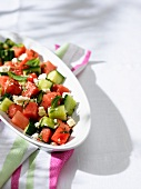 Cucumber-watermelon salad with fets