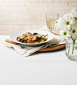 Tarragon chicken with vegetables