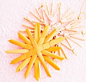 Christmas straw stars