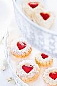 'Spitzbuben' (cookies) with jam hearts