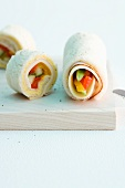 Cheese and vegetable wraps