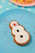 Ein Lebkuchen-Schneemann