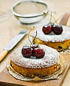 Mini chocolate-cherry cakes