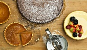 Cheese cake with vanilla and honey