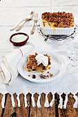 A sweet vanilla bake with nuts and cream