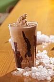 A glass of Eiskaffee (iced coffee drink)