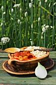 Lecso mit Paprika, Tomaten und Wurst (Ungarn)