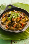 Pork ragout with aubergines (Asia)