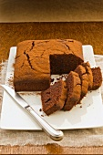Beetroot and chocolate cake, sliced