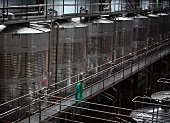 Steel tanks for wine storage