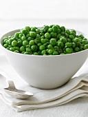 Serving Bowl of Peas; Spoon