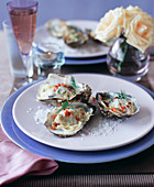 Oysters in whiskey cream
