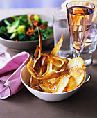 Potato and parsnip chips
