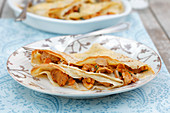 Crepes with chanterelle mushrooms