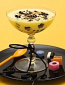 Lemon mousse with liquorice