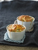 Two Individual Chicken Pot Pies with Biscuit Topping