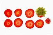 Erdbeerscheiben, aufgereiht