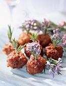 Lamb meatballs with rosemary