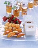Various fruit skewers