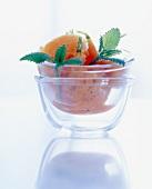 Carrot granita with herbs