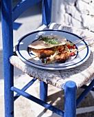 Lamb kebabs and pita bread (Greek)