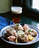 Bread with shrimp spread (Irish)