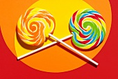 Two lollipops, close-up