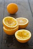 Oranges, squeezed and unsqueezed