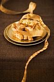 Cantuccini al pistacchio (pistachio pastries, Italy)