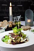 Fall salad with radicchio