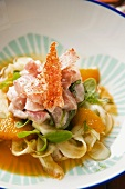 Red mullet with fennel, orange and cress