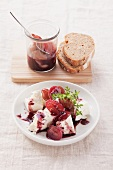 Feta with grape compote and thyme