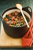 Vegetable and sausage casserole