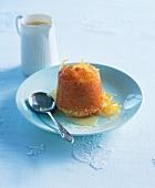 Lemon sponge pudding with syrup (England)