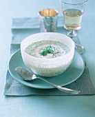 Cold cucumber soup with dill