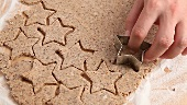 Cutting out cinnamon stars