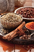 Still life with various spices