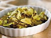Homemade Pickles in a White Dish