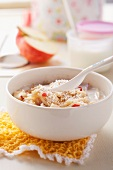 Muesli for kids with popped amaranth and fruit