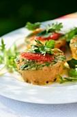 Prawn terrine with vegetables