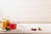 Smoothies, Wassermelone und Beeren