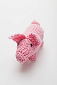 Knitted piglet lucky charm